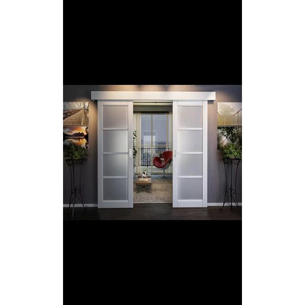 Комплект для двустворчатой двери синхронной открывания, обычный стопор. Ширина двери от 500 до 1100мм, вес до 40кг.