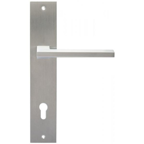 Дверная ручка Extreza Hi-Tech «AZIMUT» (Азимут) 102 на планке PL11 CYL матовый хром F05
