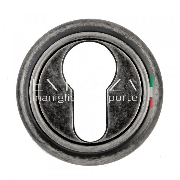 Накладка дверная Extreza CYL под цилиндр R01 античное серебро F45