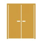 Симметричная двустворчатая (спарка)